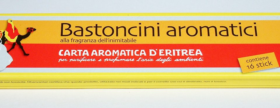Scented Sticks – Incenses – Carta Aromatica d'Eritrea