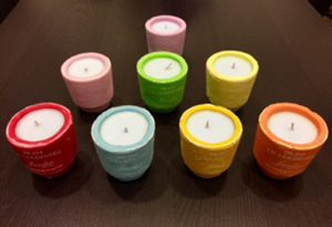 """""""Provenzalische"""" Terrakotta Kerze 160g 02 - Carta Aromatica d'Eritrea® Blu - Essence du Touareg"""