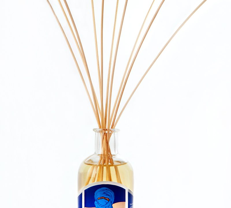 Reed Fragrance Diffuser Blue Aromatic Essence of Eritrea 100ml – Carta Aromatica d'Eritrea® Blu - Essence du Touareg